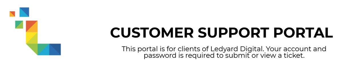 Ledyard.co Support Portal
